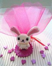 coniglietta Mofy in fimo con strass COMPLETA!! TOULLE+ CONFETTI