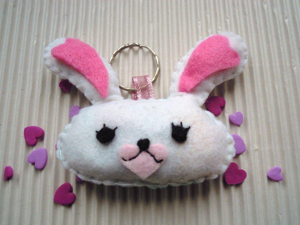 portachiavi coniglietta Mofy in pannolenci