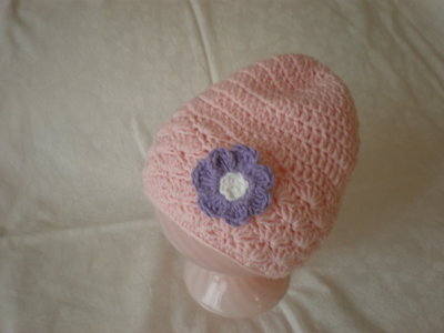 cappello rosa bambina uncinetto
