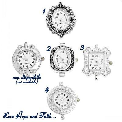1 Base orologio color argento (06432)