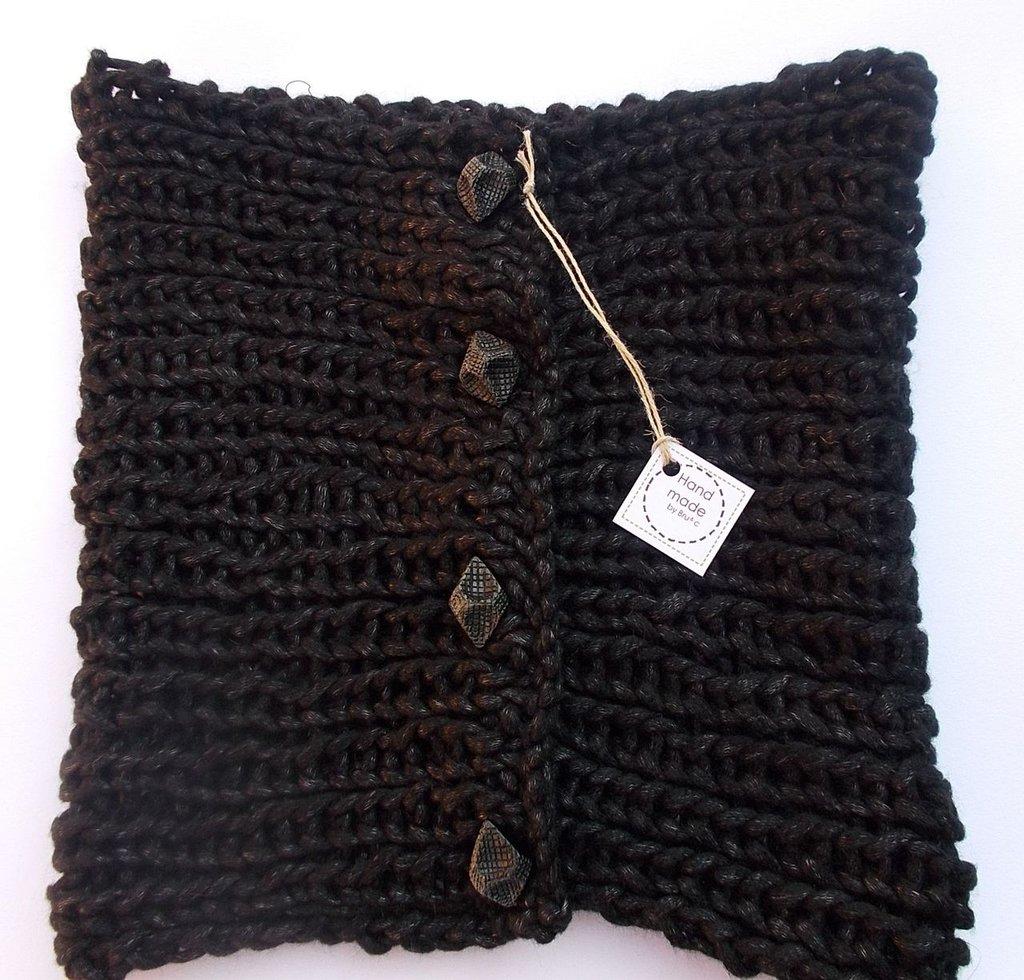 Sciarpa trasformista nera