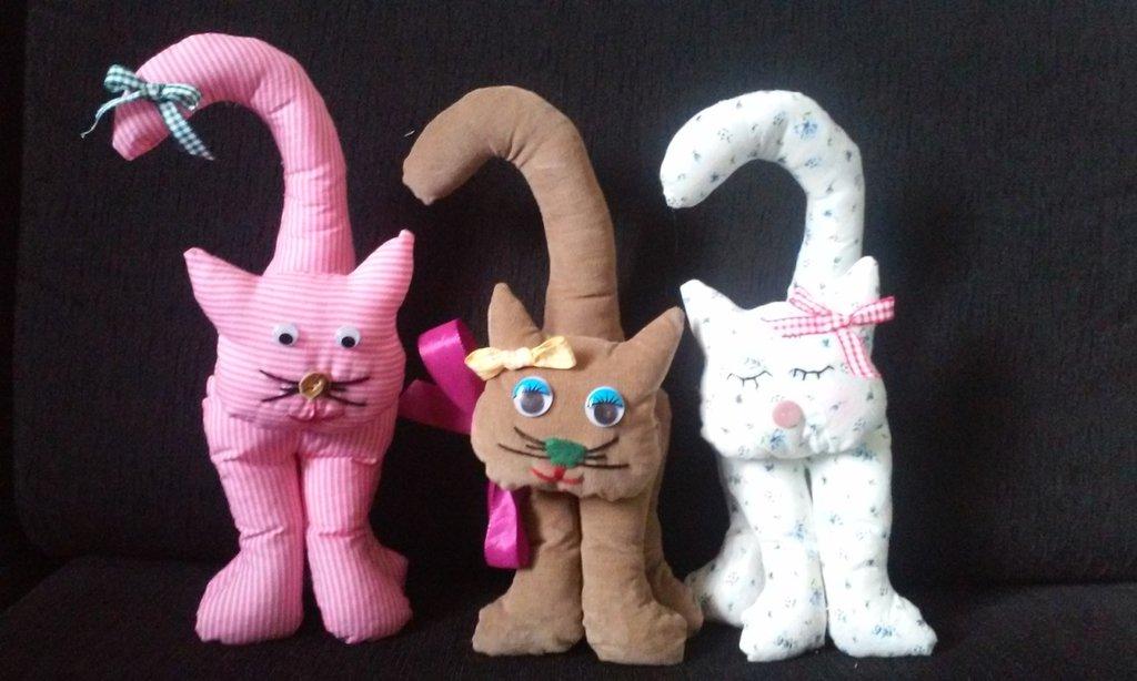 Gattini fermaporta in tessuto