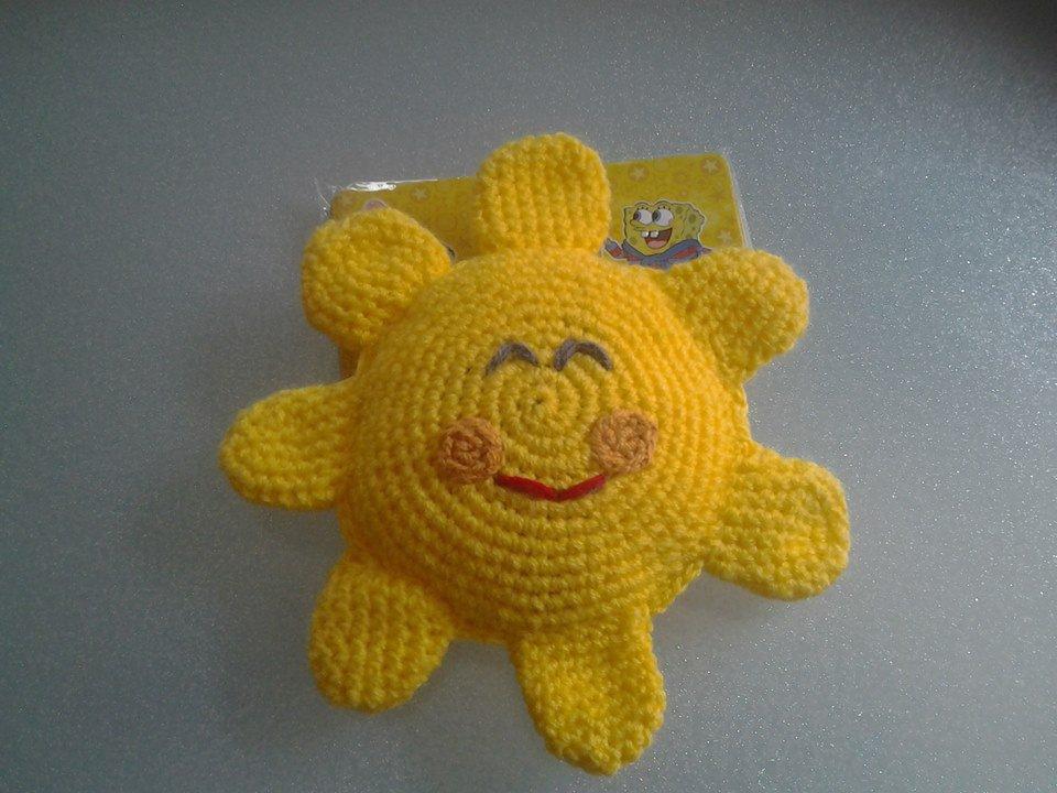 Sole giallo amigurumi