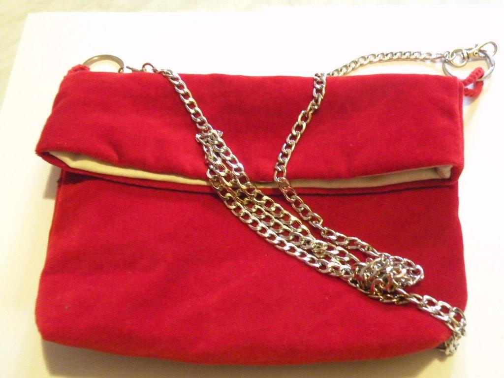 borsa velluto rosso