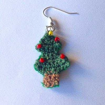 Orecchini Albero Di Natale Uncinetto Campobassopellicce