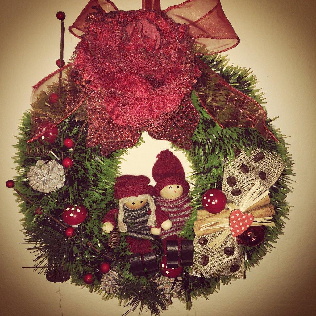 Ghirlande per porta feste natale di il giardino - Ghirlande per porte natalizie ...