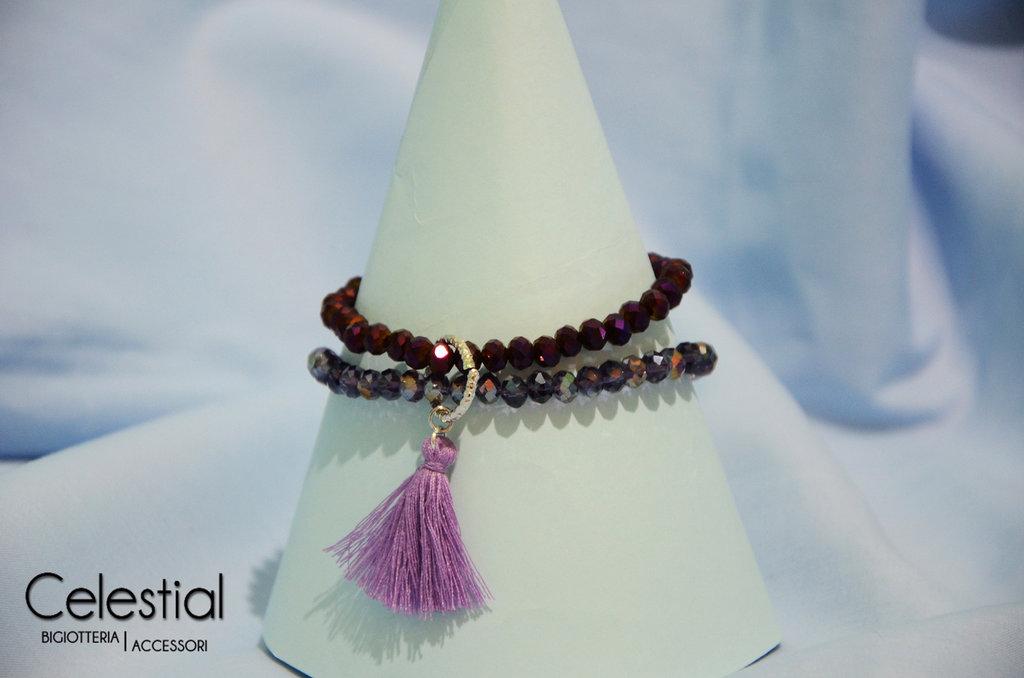Bracciale cristalli cinesi - Mix Viola