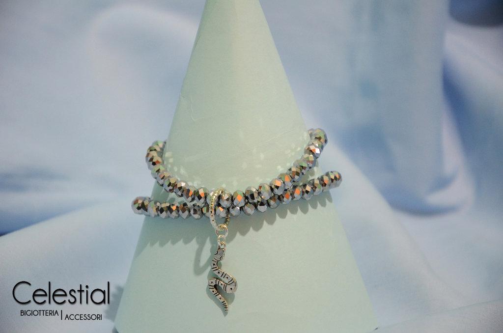 Bracciale cristalli cinesi - Silver