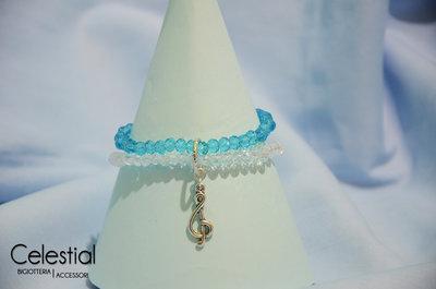 Bracciale cristalli cinesi - Crystal/Azzurro