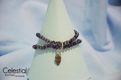 Bracciale cristalli cinesi - Viola