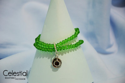 Bracciale cristalli cinesi - Verde