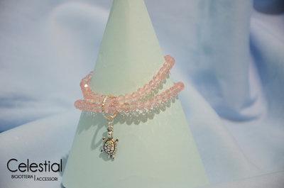 Bracciale cristalli cinesi - Rosa