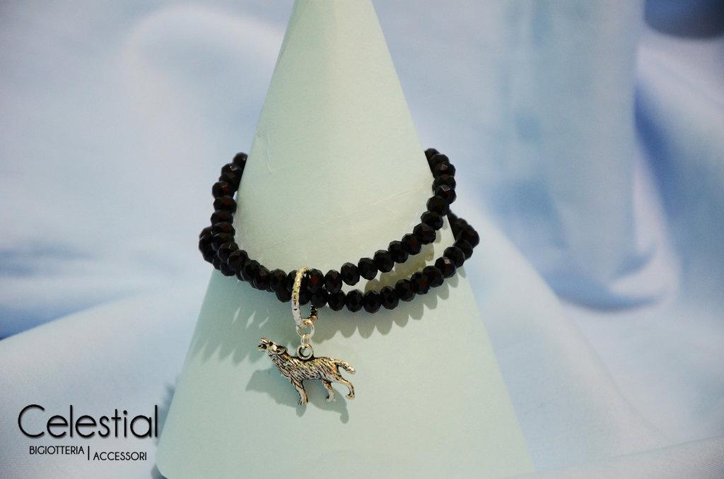 Bracciale cristalli cinesi - Nero
