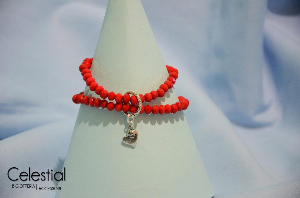Bracciale cristalli cinesi - Rosso