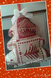 Alberello in stoffa o pannolenci realizzato a mano