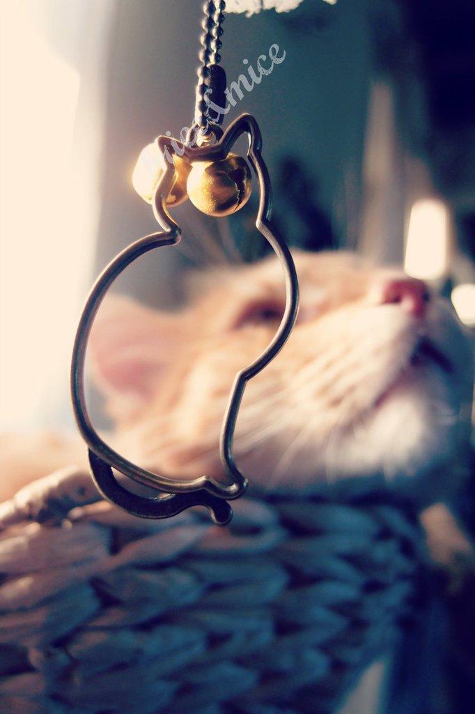 Collana gatto vintage, collana con ciondolo gatto, collana ciondolo gatto bronzo