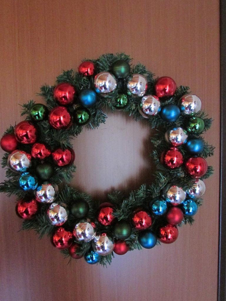 ghirlanda palline Natale