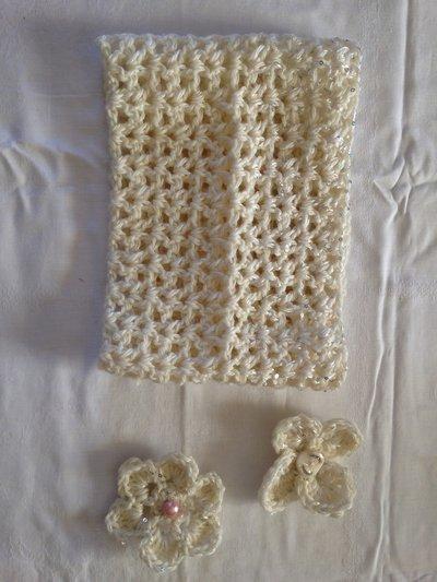 Scalda collo misto-lana fatto a mano