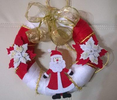 Ghirlanda natalizia in pannolenci