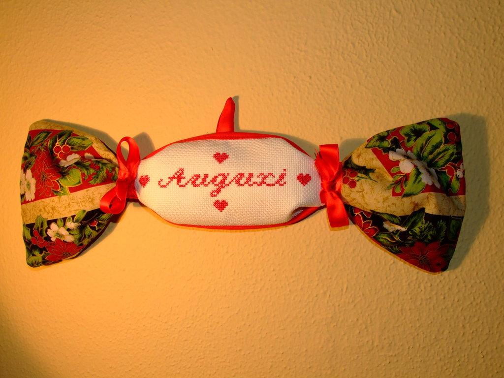 Fiocco strenna natalizio caramella fantasia