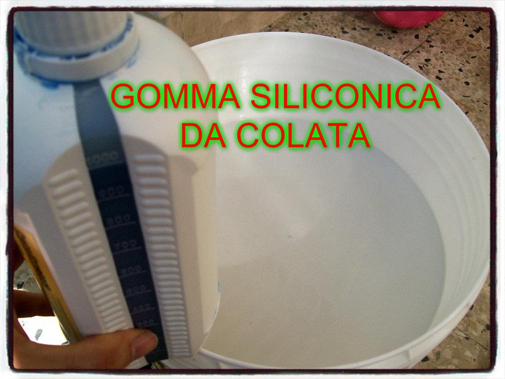 GOMMA SILICONICA LIQUIDA DA COLATA PER STAMPI FIMO GESSO ECC ATOSSICA COLABILE