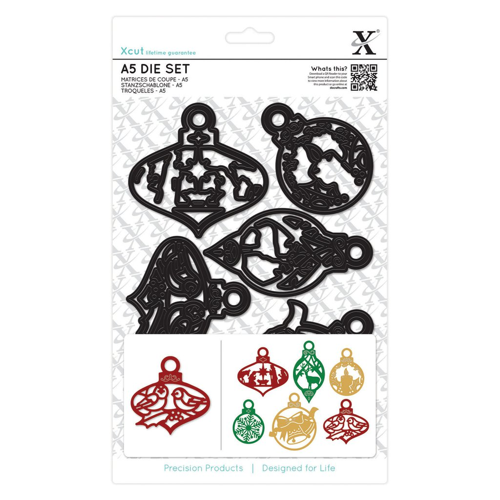 Set fustelleA5  Xcut - Christmas Paper Cut Baubles