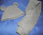 Cappellino coniglietto  e sciarpetta bambini  1 anno circa