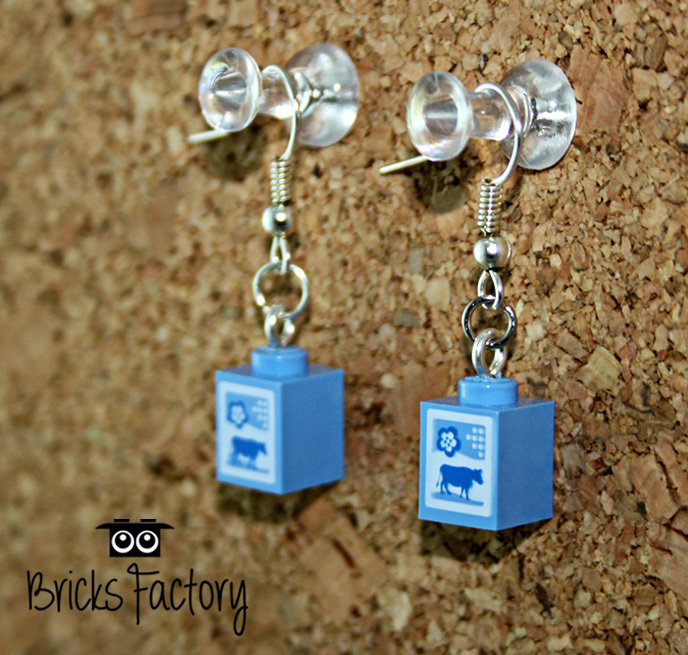 Orecchini LEGO originali pendenti latte