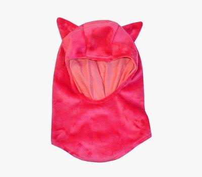Passamontagna Anguria con orecchie da animaletto - berrettino e sciarpa in uno.