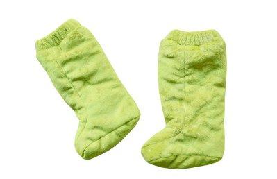Stivaletti Double Face Mela Verde in tessuto minky per i bambini che non camminano ancora