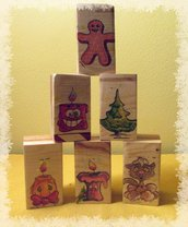 Segnaposto in legno natalizio