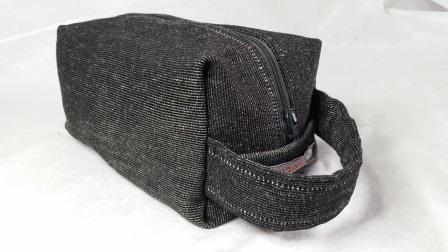 Boxie Pouch tessuto tappezzeria Grey-Brown