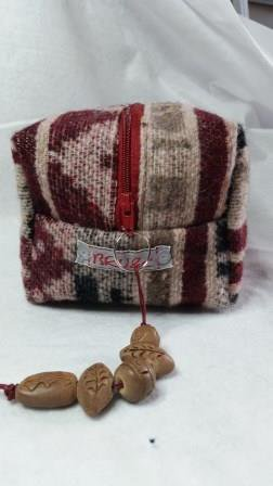 Boxie Pouch lana Ethnic bordeaux