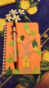 Agenda A6 decorazioni in feltro - Diario dei ricordi
