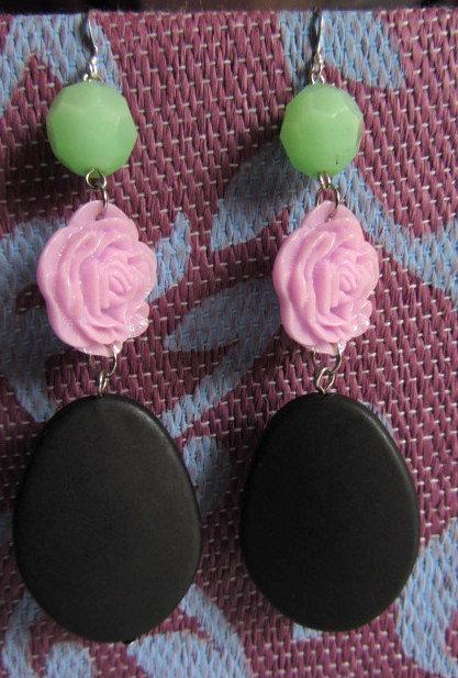 Orecchini romantici rosa