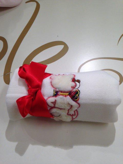Copertina in maglia con orsetto