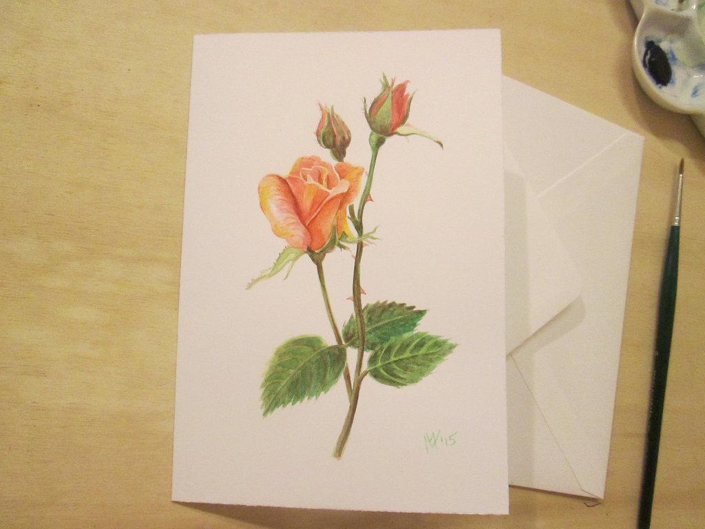 Partecipazioni di nozze dipinte a mano