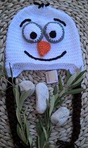 Olaf cappello bambino uncinetto