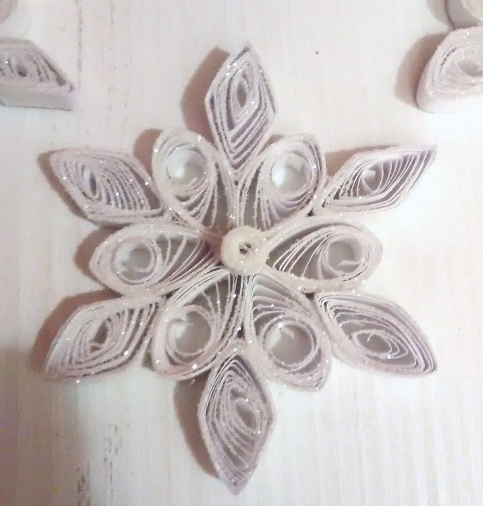 Set decoraziobe per albero, Fiocco di neve, decorazione natalizia
