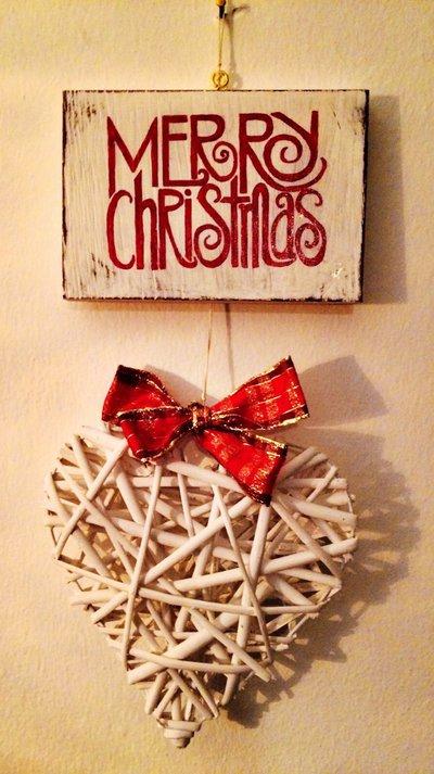 """Pannello fuoriporta """"Merry christmas"""""""