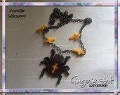 Collana Halloween - croci e ragno