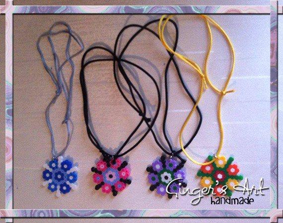 Collana Hama Beads e cordino