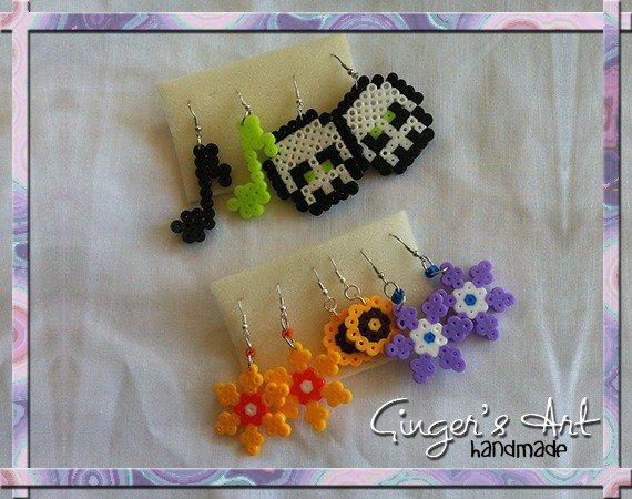 Orecchini Fiori Hama Beads