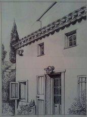 Disegno a Penna - Casa Provenzale