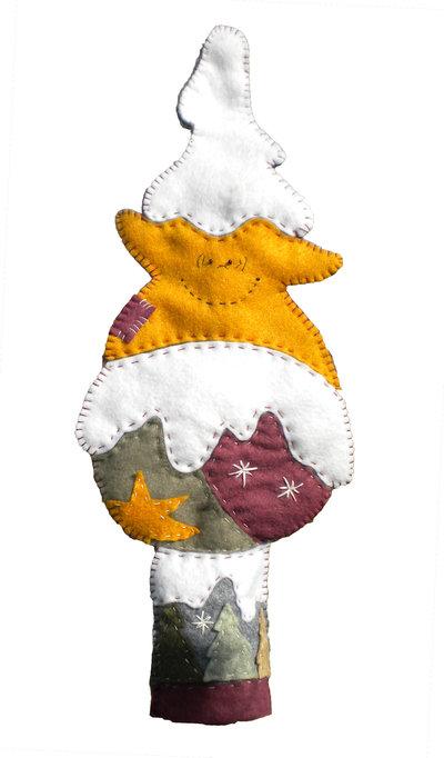 FELTRO Puntale per l'albero di Natale
