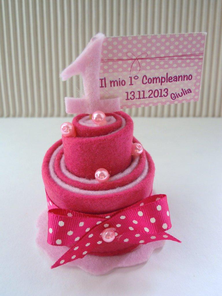 mini cake  1° compleanno in feltro