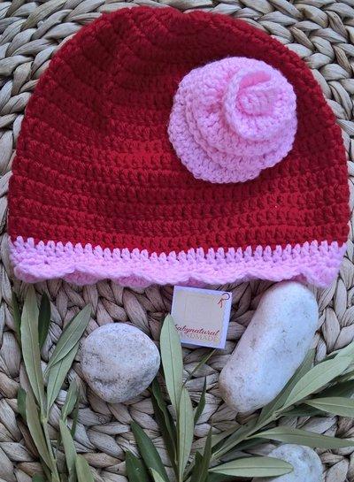 Cappello neonata/bambina uncinetto
