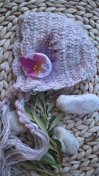 Cuffietta elegante uncinetto per neonati