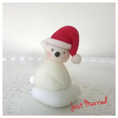 confetto decorato natalizio, orsetto polare