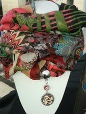 Foulard gioiello fimo